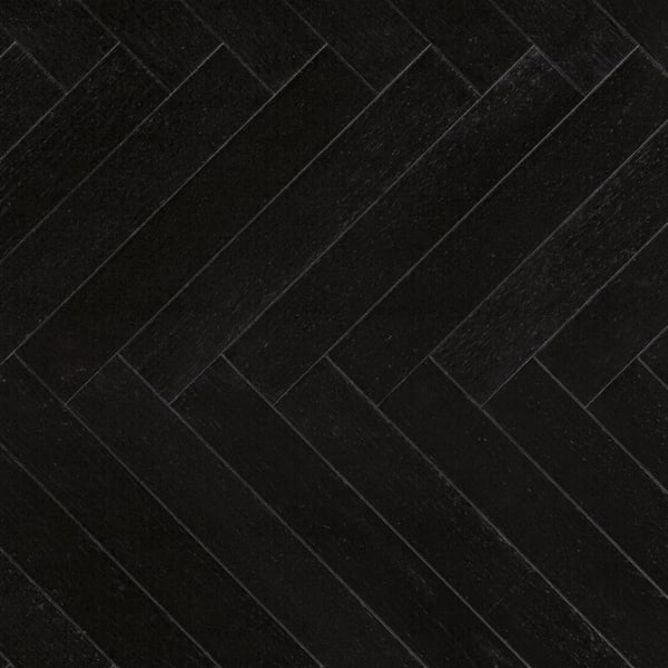 Black Oak Herringbone Lacquered Parquet Flooring