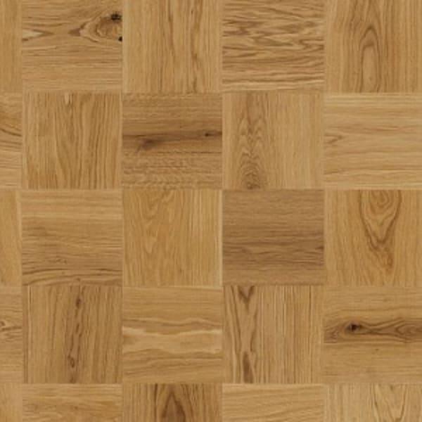 Large Cube Mosaic Natural Oak Oiled Parquet Flooring