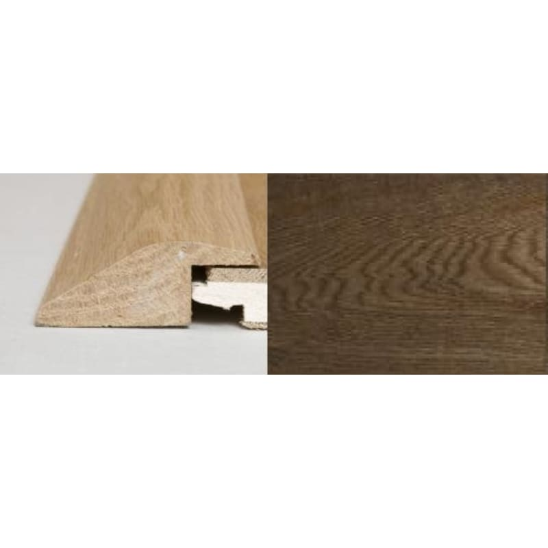 Solid Smoked Oak Ramp Bar  1 metre Ramp Profile