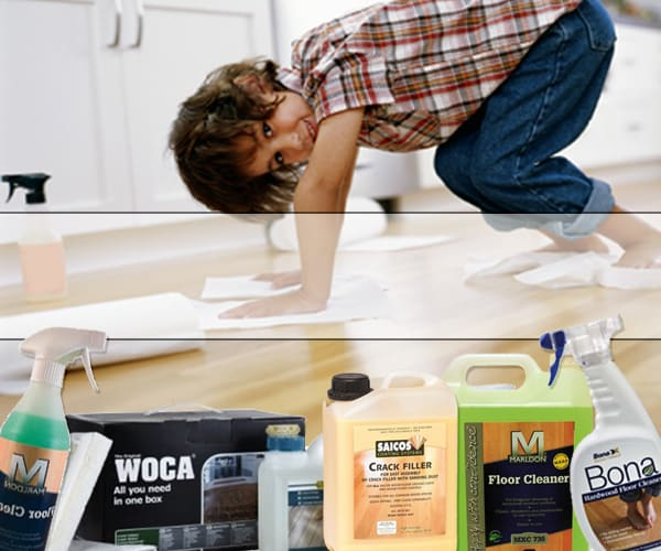 Some wood cleaning products
