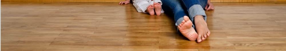Walking barefoot on hardwood flooring