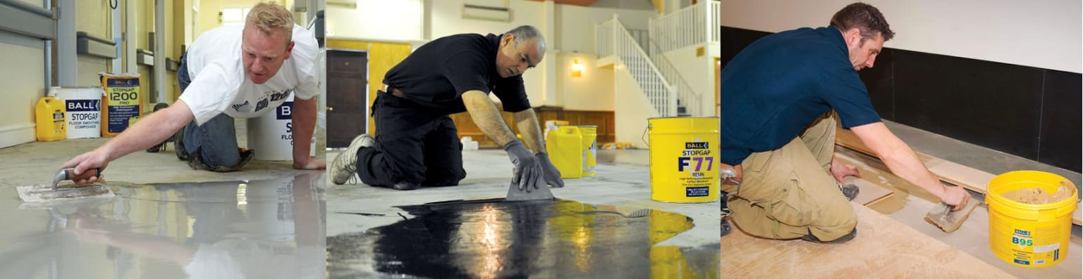 F. Ball Flooring Adhesives and Preparation