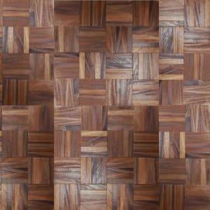 African Oak Herringbone Parquet Lacquered Hardwood Floor