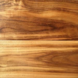 Close up view of acacia flooring