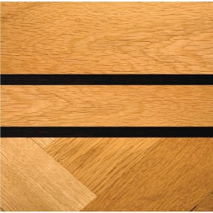 Double Wenge & 2 Strip Oak 90mm Solid Parquet Inset Border Strip