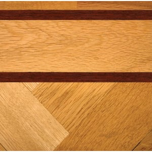 Double Mahogany & Oak Parquet Solid 43mm Inset Strip
