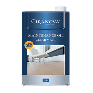 Ciranova Clear Satin Wood Flooring Maintenance Oil 1L