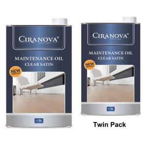 Ciranova Clear Satin Wood Flooring Maintenance Oil 1L x 2 Twin Pack