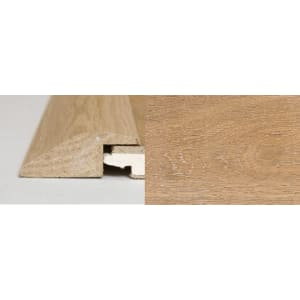 White Wash Stained Solid Oak Ramp Bar Flooring Profile 1m