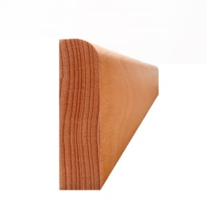 Solid Unfinished Beech Round 65mm - Wire Recess Skirting 2.4m for Flooring