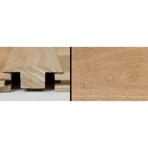 White Wash Stained T-Bar Profile Solid Hardwood 1m