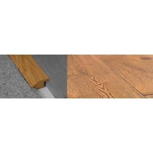 Burnt Umber Brown Stained Wood to Carpet Profile Soild Hardwood 15mm Rebate 2.7m