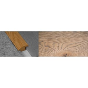 Frozen Umber Stained Wood to Carpet Profile Soild Hardwood 15mm Rebate 2.7m