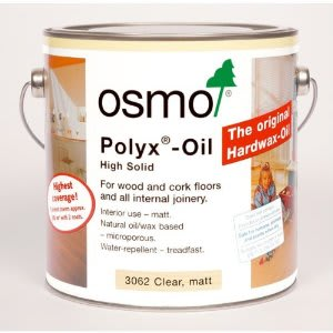 OSMO 3062 ULTRA-MATT  Clear Hard Wax Wood Flooring Oil 2.5L