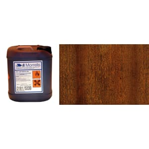 Morrells Light Fast Stain 5L Brown Mahogany Wood Flooring Stain  0181/200 (1L=8m2 per coat)