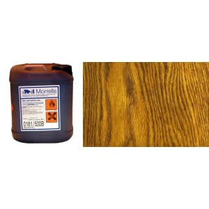 Morrells Light Fast Stain 5L New Medium Oak Wood Flooring Stain 0182/200 (1L=8m2 per coat)