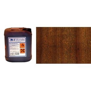 Morrells Light Fast Stain 5L Mahogany Wood Flooring Stain 0181/000(1L=8m2 per coat)