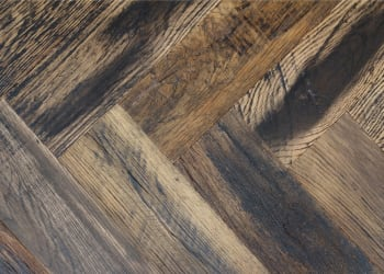 Worcester Dark Smoked Oak Herringbone Parquet Hardwood Floor