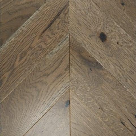 Kronborg Stained Oak Brushed Matt Lacquered Chevron Parquet Flooring