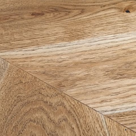 Vyborg Smoked Oak Brushed Matt Lacquered Chevron Parquet Flooring