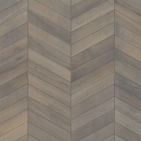 Grey Oiled Vintage Oak Chevron Parquet Flooring