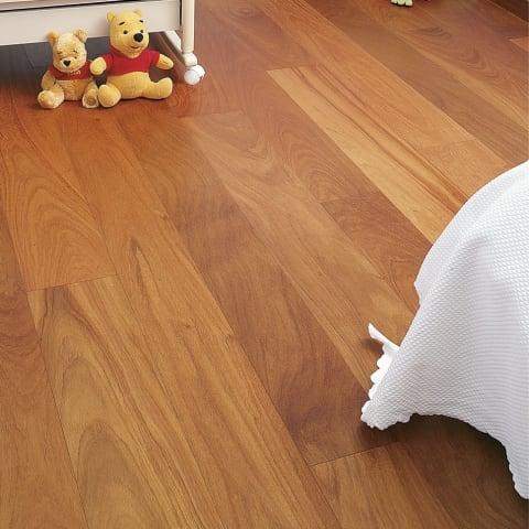 Doussie (Afzelia) Lacquered Engineered Hardwood Flooring