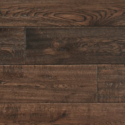 Antique Stained Oak Hand-Scraped 150mm Hardwood Flooring