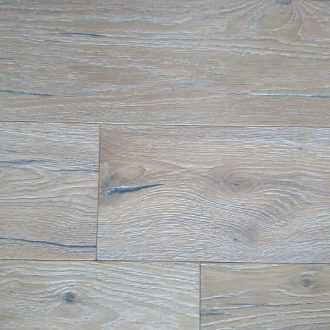 Keswick Raw -Smoked Oak Heavy Brushed Hardwax Hardwood Engineered Wood Flooring