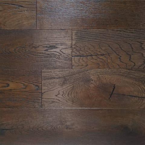 Hawkshead Antique Stained Oak Heavy Brushed Hardwax Hardwood Engineered Wood Flooring