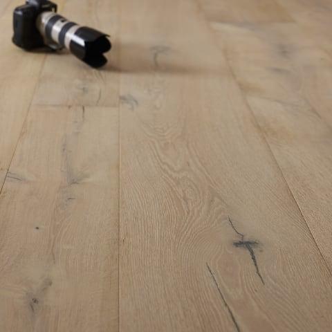 Brechin Oak Brushed Rustic Lime Dual-Width Engineered Hardwood Flooring