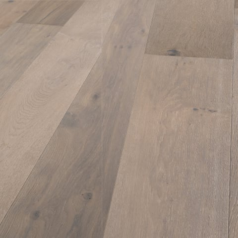 Amersfoort Smoked White Rustic Brushed Oiled Oak Dual-Width Engineered Hardwood Flooring