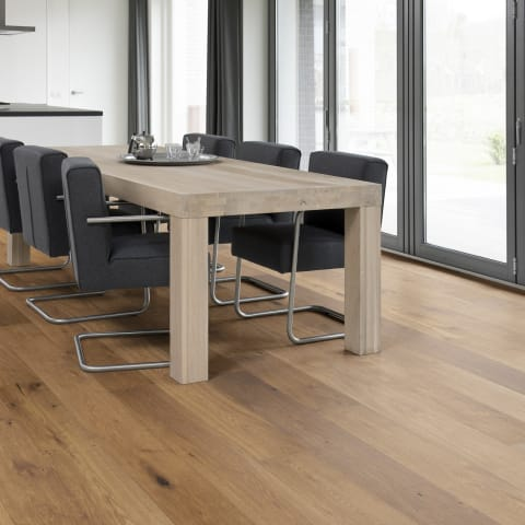 Valkenburg Smoked Natural Rustic Brushed Oiled Oak Dual-Width Engineered Hardwood Flooring
