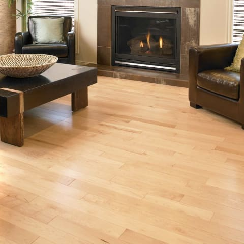 Maple 135mm (US-American) Select Solid Lacquered Wood Flooring