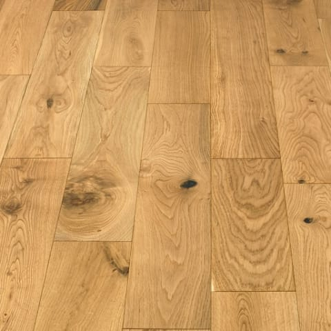 Natural Oak 18mm Multi Layer Brushed Lacquered Engineered Wood Flooring