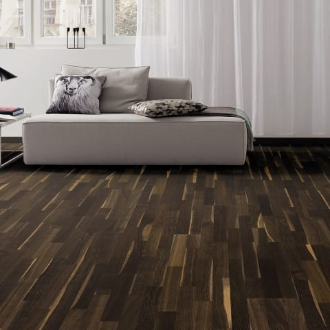 3 Strip African Oak Lacquered Engineered Hardwood Flooring