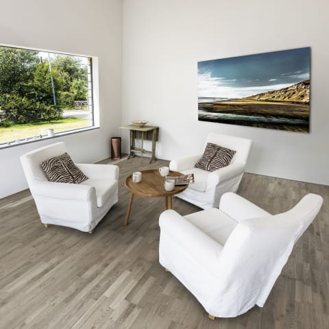 Grey Stone 3 Strip Stained Oak Lacquered Engineered Hardwood Flooring