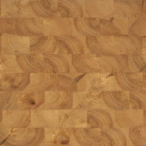 Pine End Grain Natural Block Parquet Flooring