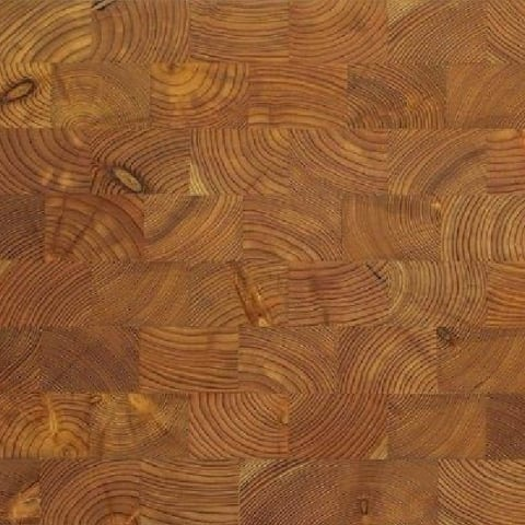 Larch End Grain Natural Block Parquet Flooring