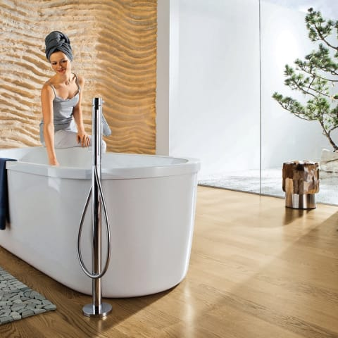 Natural SPA Application Oil Bathroom Wood Flooring