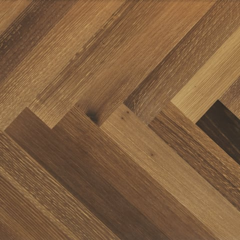Lincoln Smoked Oak Herringbone Parquet Hardwood Floor