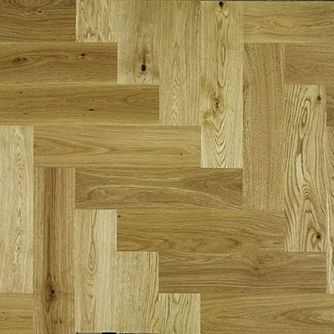 Natural Oak 350mm Herringbone Parquet Block