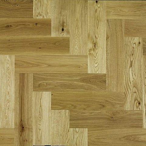 Natural Oak 350mm Herringbone Parquet Block