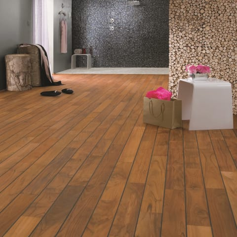 Teak Navylam+ Parquet 64mm Wide Bathroom Wood Flooring