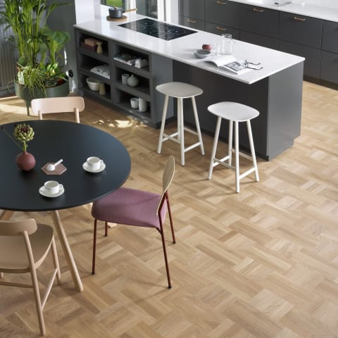 Vienna Stained Oak Small Cube Block Parquet Flooring