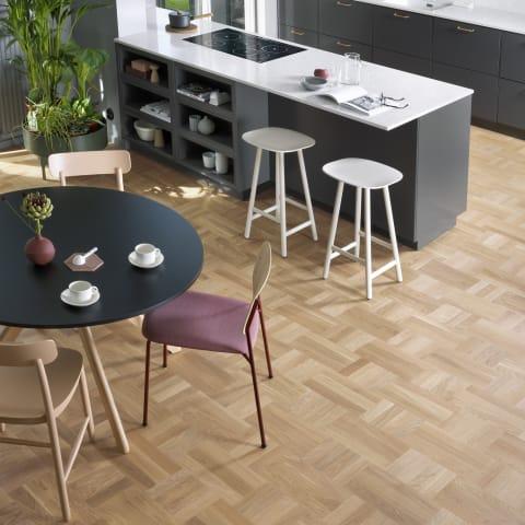 Vienna Stained Oak Small Cube Block Parquet Flooring