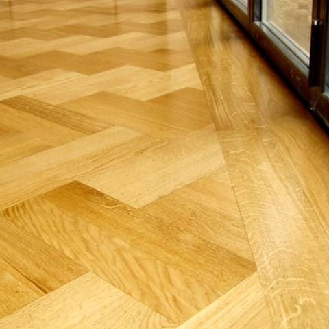 Herringbone 280mm Oak Prime Herringbone Engineered Unfinished Parquet Flooring