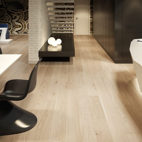 Merano Oak Limed Grey Stained Brushed Lacquered Engineered Hardwood Flooring