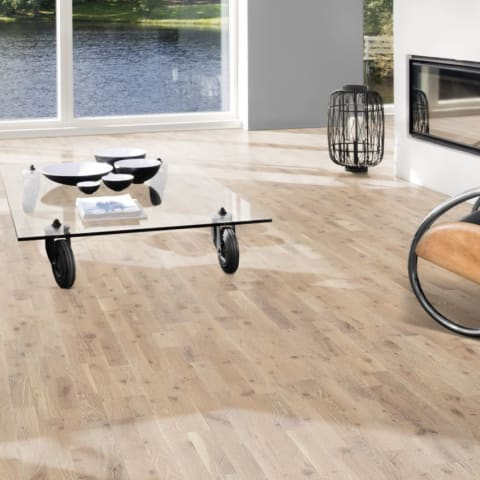 3 Strip White-Sand Stained Oak Brushed Oiled Engineered Hardwood Flooring