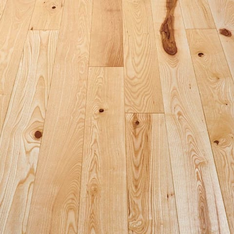 Ash 110mm Single Plank Solid Hardwood Flooring