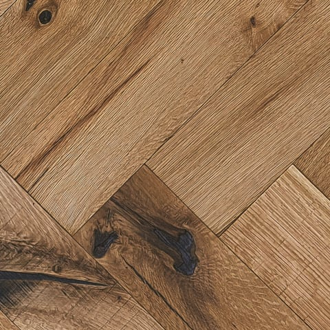 Limehouse Oak Natural Oiled Reclaimed Herringbone Engineered Hardwood Flooring
